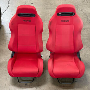 Recaro Replica Seats With Sliding Rails Honda Type Red Lh Rh Dc2 Ek Acura Dc5