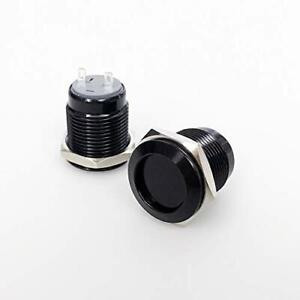 Spst Latching Metal Push Button Switch 16mm Waterproof On Off Switch 12v 2pin