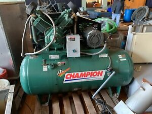 Gardner Denver Champion 10hp Piston Two Stage Reciprocating Air Compressor