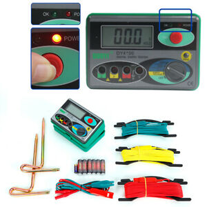 Industrial Dy4100 Digital Earth Ground Resistance Tester Meter 0 20 200 2000
