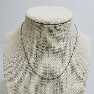 Cookie Lee Chain Necklace Silver Tone Thin Dainty 12 Inches Basic Classic Ball $14.69