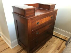 Antique Dresser Oak With Stained Finish 3 Drawers