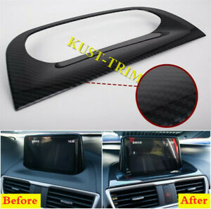 Fit For Mazda 3 Axela 2017 2018 Carbon Fiber Interior Navigation Frame Cover