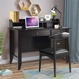 Top Grade Wood Computer Desk With Drawers And Hutch Vintage Writing Study Table
