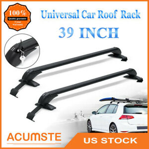 39 Universal Car Top Luggage Roof Rack Cross Bar Adjustable Window Frame Lock