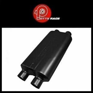 Flowmaster 8525554 50 Series Hd Universal Muffler 2 5 Dual In 2 5 Dual Out