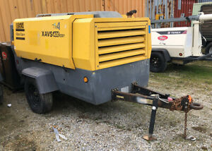 Atlas Copco Xavs400 400 Cfm Air Compressor On Trailer W Caterpillar Engine