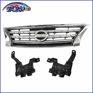 Front Grille Chrome Shell Silver Insert For Nissan Sentra 13 15 S sl sv