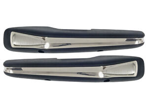 New 1963 64 Falcon Arm Rest Pads Deluxe Black Ranchero 62 Galaxie 63 Comet Ford