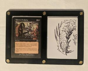 Magic Mtg Aphetto Dredging Artist Proof Signed Sketched Monte Michael Moore