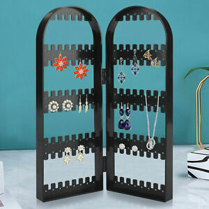 Us 120holes Earrings Ear Studs Jewelry Display Rack Stand Organizer Case Box