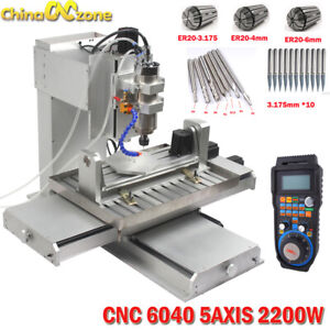 6040 5axis Cnc 2 2kw Router Engraving Usb Port Machine Metal Milling Machine Us