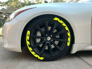 Tire Lettering Permanent Nitto Stickers Yellow 14 24 8x Letters 1 25 4 Tires