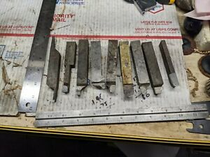 Lot Of 9 Metal Lathe Tooling Bits 3 4 5 8 Cemented Carbide