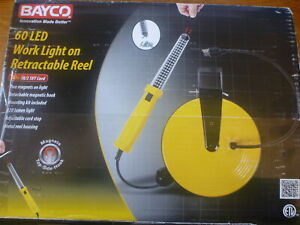Bayco Products Sl 864 60 Led Work Light On Retractable Reel