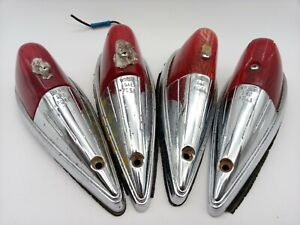 Kd 518 Vintage Marker Light Assembly Red Dz77 101 Lens Early Truck Cab Lamps