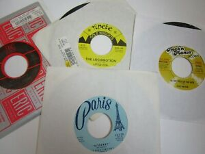 FIVE SATINS amp; CURTIS LEE 45rpm VG IN THE STILL OF THE NIGHT PRETTY LITTLE P24 $7.65