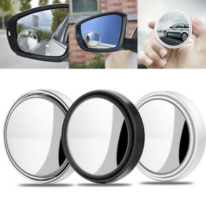 2 Pcs 2 Round Car Blind Spot Rear View Mirror Wide Angle Convex Rearview Mirror