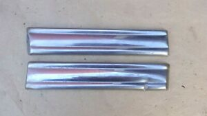 1942 1946 Ford Cowl Stainless Trim Moldings Original Pair