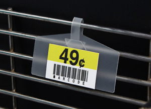 Lot Of 50 Label Holders For Wire Metal Shelf Upc Barcode