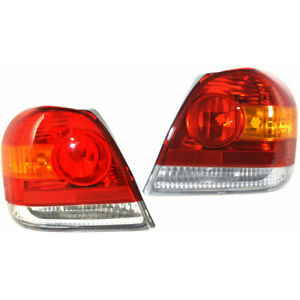 Fits 2003 2005 Toyota Echo Tail Light Pair To2818123 to2819123