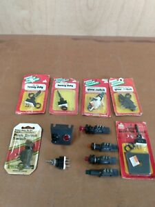 Vintage Illuminated On off Glow Switches And Heavy Duty Toggle Switches 12 Total