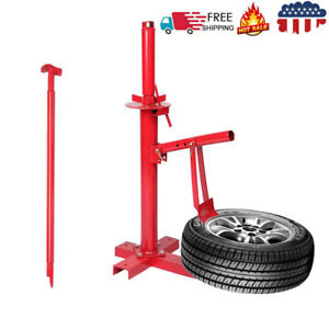 Manual Tire Changer Automotive Bead Breaker Tool Mounting Red Steel Portable Us