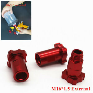 M16x1 5mm External Thread Adapter Fit For Pps Spray Gun Cup Connector Pot Joints