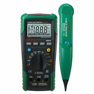 Mastech Ms8236 Auto Range Dmm Digital Multimeter Network Cable Wire Track Tester