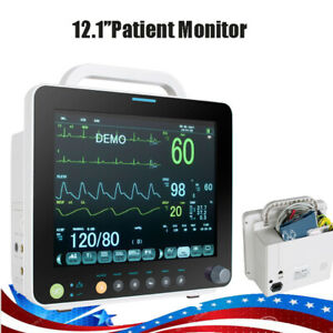 12inch Multi parameter Vital Signs Patient Monitor With Storage Case Hospital Us