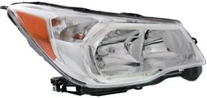 Right With Chrome Bezel Headlight For 2014 2016 Subaru Forester 2 5l Engine