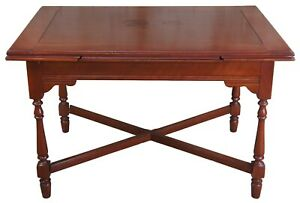 Antique William Mary Style Walnut Draw Leaf Dining Table Farmhouse Pub English