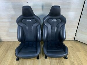 15 20 Oem Bmw F82 M4 Coupe Front Left Right Sport Seats Black Leather Heated