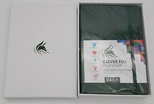 Clever Fox Daily Undated Planner various Colors