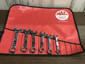 Mac Tools 6pc Stubby Sae Combination 12pt Wrench Set
