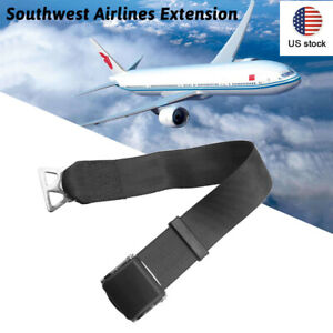 Us Airplane Seat Belt Extender Type A Universal Extension Faa Compliant Black