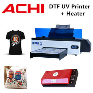 Dtf Uv Printer Direct To Film T shirt Flatbed Printer Epson R1390 W oven Heater