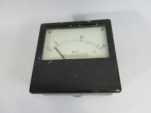 English Electric 6 1 2x4 1 4 vintage Panel Meter 0 15ac Kilovolts Used