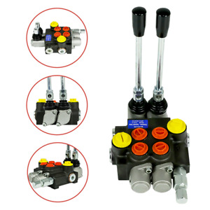 13gpm 2 Spool Hydraulic Directional Control Valve Tractor Loader With Joystick