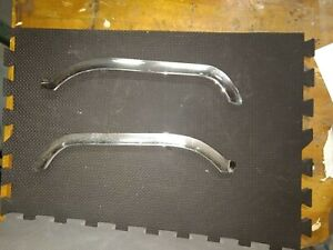 1961 1963 Ford Thunderbird Front Chrome Hood Eyebrow Left Right Trim Bezel