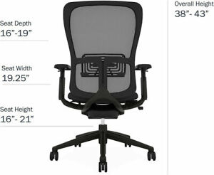 Executive Chair By Haworth Zody In Black Color Loaded Chair Desk Mesh Chair