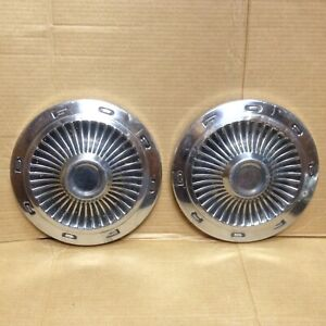 1963 Ford Dog Dish Hub Cap 63 1964 64 Galaxie Fairlane Hubcap Wheel Cover 2 Pair