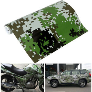 Green Digital Camo Vinyl Decal Car Sticker Film Wrap Waterproof Air Bubble Free