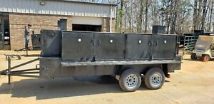 Iron Hog Restaurant Church Bbq Smoker Grill Trailer Food Truck Business Catering