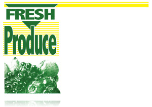 Fresh Produce Price Cards display Case shelf Signs Tags 100lot 3 5x5 5