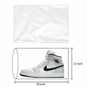 100 Heat Shrink Film Wrap Bags Flat For Gift Bag Shoes Protector Packing Cover