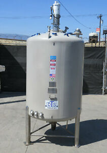 Stainless Steel Tank Dci 304 Stainless Steel Pfa Lined 45 Psi Full Vac 700 Gal