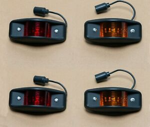 Led M998 Humvee Side Marker Light Kit 4 Black