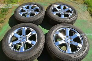 20 Ford F150 Oem Factory Fx4 Lariat Chrome Pvd Wheels Tires Expedition 2021