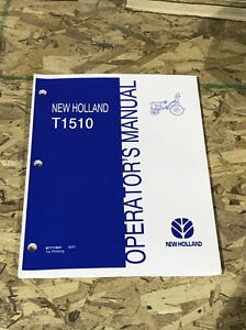 New Holland T1510 Tractor Operators Manual Owners Maintenace Lubrication Book Nh